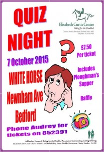Quiz Night poster Oct 15